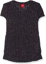S'Oliver Girl's 53.711.62.6760 Jumper, Blau (Dark Blue Knit 58 X 0)