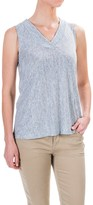 Willi Smith Stripe T-Shirt - Linen, Sleeveless (For Women)