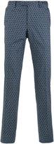 Pt01 geometric pattern slim-fit trousers - men - Cotton - 46