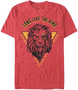 Fifth Sun Tee Shirts RED - The Lion King Red Heather 'Long Live The King' Scar Tee - Adult