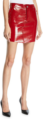 RtA Callie Patent Leather Mini Skirt