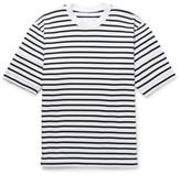 Sacai Dixie Striped Cotton-jersey T-shirt - White