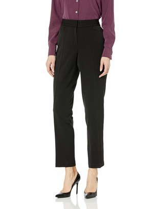 Rafaella Women's Curvy Fit Gabardine Slim Leg Pants