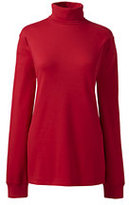 Classic Women's Seamless Cotton Turtleneck Cherry