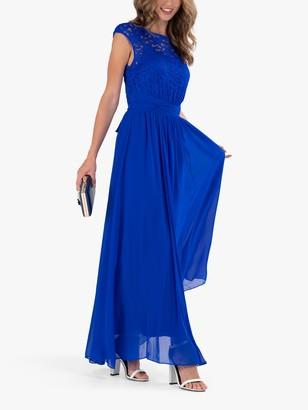 Jolie Moi Lace Bodice Sleeveless Maxi Dress, Lilac