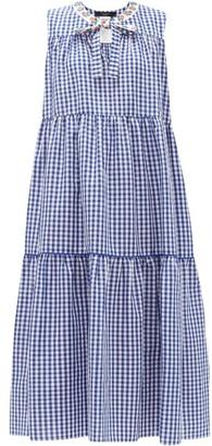 Max Mara Natura Dress - Womens - Blue White
