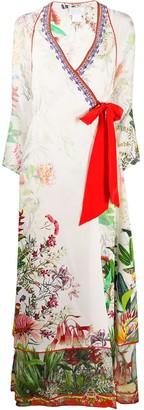 Camilla Faraway Tree-print silk dress