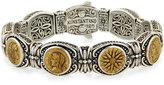 Konstantino Silver and Bronze Coin Bracelet