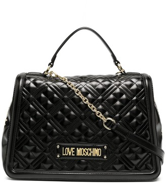 Love Moschino Logo Quilted Tote Bag