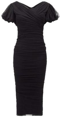 Dolce & Gabbana Gathered Tulle Dress - Black