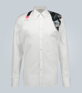 Alexander McQueen Harness shirt with contrast print