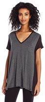 DKNY Women's Short Sleeve Knit Essential Sleep Top