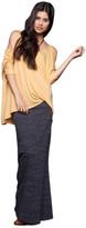 Saint Grace Moby Stripe Fold Over Skirt In Black