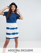 ASOS Tall ASOS TALL T-Shirt Dress in Tie Dye