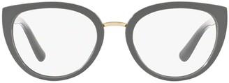 Dolce & Gabbana Round Frame Cat Eye Glasses