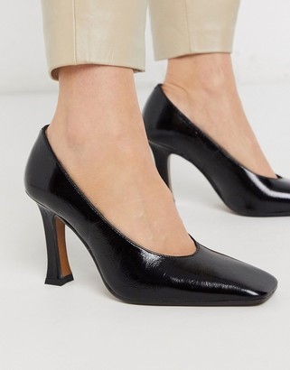 CHIO court shoes in black leather