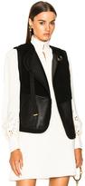 Chloé Reversible Shearling Vest in Black.