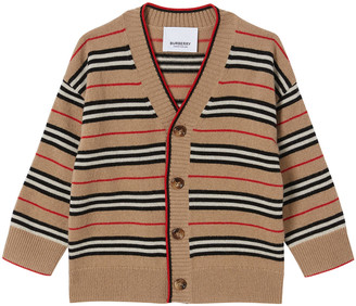 Burberry Boy's Tobias Icon Stripe Cardigan, Size 6M-2