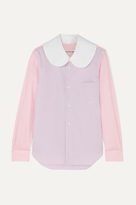 Comme des Garcons Color-block Cotton-poplin Shirt - Lilac