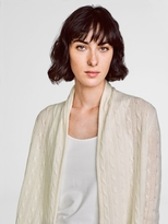 White + Warren Cashmere Cable Cardigan