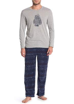 Lucky Brand Printed Shirt & Pants 2-Piece Pajama Set