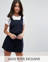 Asos Pinafore Romper with Ruffle Straps