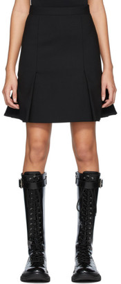 Alexander McQueen Black Peplum Mini Skirt