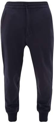 Y-3 Y 3 Applied-logo Technical-jersey Track Pants - Mens - Navy