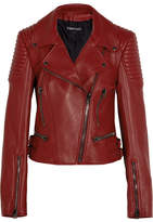 Tom Ford Leather Biker Jacket - Red