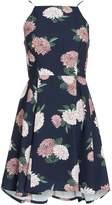 Keepsake Sleeveless Square Neck Floral Chiffon Dress