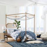 Colette Canopy Bed + Wide Dresser Set, Full Washed Sand