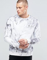 Religion Sweatshirt With All Over Marble Print