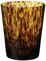 OKA Tortoiseshell Low Glass Tumblers, Set of 4