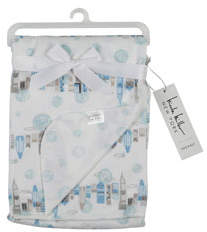 Nicole Miller Cityscape Double-Sided Baby Blanket