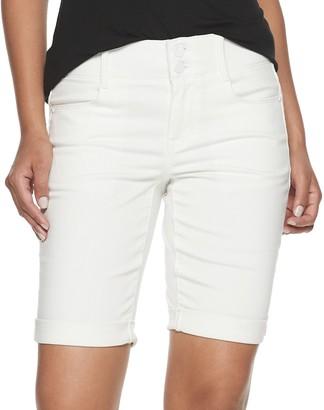 Apt. 9 Women's Tummy Control Denim Bermuda Shorts