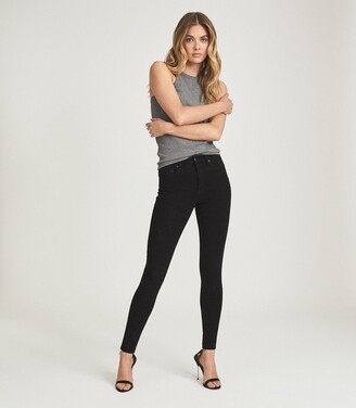 Reiss LUX MID RISE SKINNY JEANS Black