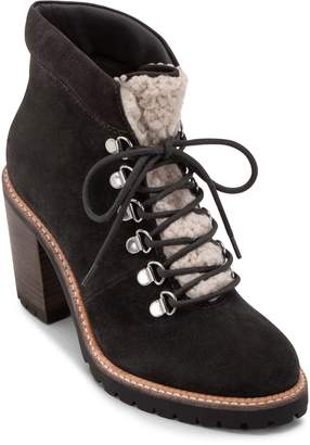 Dolce Vita Post Faux Shearling Trimmed Hiking Boot