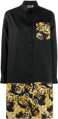 Versace Baroque Print Shirt Dress