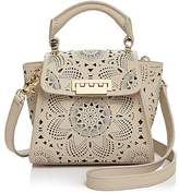 Zac Posen Eartha Iconic Mini Top Handle with Floral Perforation