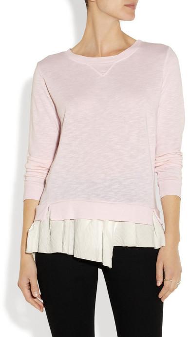 Clu Ruffled-hem terry sweater