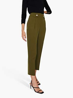 Warehouse Front Pleated Peg Trousers