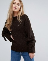 Warehouse Tie Cuff Sweater