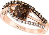 LeVian Le Vian Chocolatier 14K Rose Gold 1.18 Ct. Tw. White & Brown Diamond & Rhodolite Ring