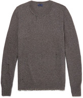 Lanvin - Elbow-patch Distressed Wool-blend Sweater