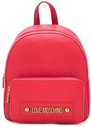 Love Moschino Small Logo-Plaque Backpack