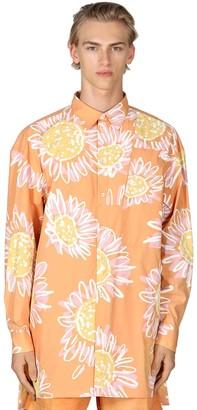 Jacquemus Floral Print Cotton Poplin Shirt