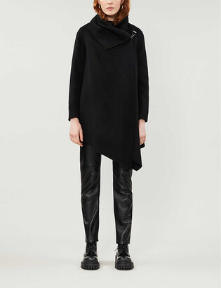 AllSaints Monument Eve recycled wool-blend coat