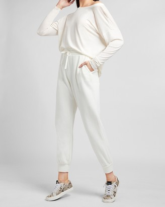 Express High Waisted Fleece Jogger Pant