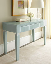 Horchow Light Blue Translucent Glass Desk