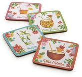 Sur La Table Tropical Drink Coasters, Set of 4